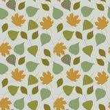 Teste padrão sem emenda floral com folhas da floresta Imagens de Stock Royalty Free