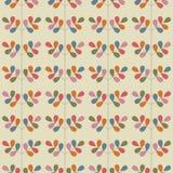 Teste padrão sem emenda floral com folhas Vetor Fotografia de Stock Royalty Free
