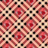 Teste padrão sem emenda floral com fundo da manta Molde do vetor ilustração do vetor