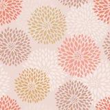 Teste padrão sem emenda floral cor-de-rosa Imagens de Stock