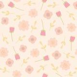 Teste padrão sem emenda floral cor-de-rosa Fotos de Stock