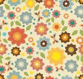 Teste padrão sem emenda floral da cor com flores Fotografia de Stock