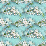 Teste padrão sem emenda floral da elegância Ramos de florescência da Apple-árvore Textura de florescência da árvore Cherry Blosso Imagens de Stock