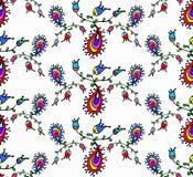 Teste padrão sem emenda floral da garatuja bonito Foto de Stock