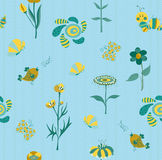 Teste padrão sem emenda floral da mola Fotografia de Stock Royalty Free