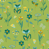 Teste padrão sem emenda floral da mola Imagem de Stock