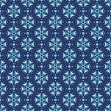 Teste padrão sem emenda floral das centáureas em cores azuis ilustração do vetor