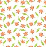 Teste padrão sem emenda floral de duas cores no fundo branco Fotos de Stock