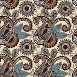 Teste padrão sem emenda floral de paisley do vintage Fotografia de Stock Royalty Free