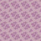 Teste padrão sem emenda floral desenhado mão Imagens de Stock Royalty Free