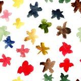 Teste padrão sem emenda floral do estilo dos desenhos animados ilustração stock