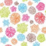 teste padrão sem emenda floral do fundo do papel de parede do vetor Imagem de Stock
