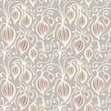 Teste padrão sem emenda floral do fundo Vetor ilustração stock