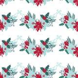 Teste padrão sem emenda floral do Natal Fotografia de Stock
