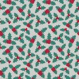 Teste padrão sem emenda floral do Natal Imagens de Stock