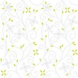 Teste padrão sem emenda floral do redemoinho Fotos de Stock