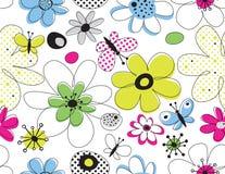 Teste padrão sem emenda floral do vetor Fotos de Stock Royalty Free