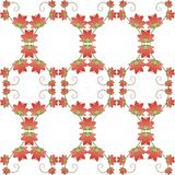 Teste padrão sem emenda floral do vetor Imagens de Stock Royalty Free
