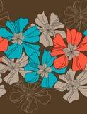 Teste padrão sem emenda floral do vetor Foto de Stock Royalty Free