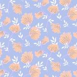 Teste padrão sem emenda floral do vetor com flores do vintage Fundo moderno elegante do verão ilustração royalty free