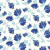 Teste padrão sem emenda floral do vetor com flores do vintage Fundo moderno elegante do verão ilustração do vetor