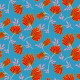 Teste padrão sem emenda floral do vetor com flores do vintage Fundo moderno elegante do verão ilustração stock