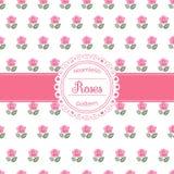 Teste padrão sem emenda floral do vetor com rosas Foto de Stock Royalty Free