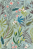 Teste padrão sem emenda floral do vintage ilustração stock