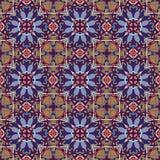 Teste padrão sem emenda floral do vintage da geometria Fotografia de Stock Royalty Free