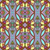 Teste padrão sem emenda floral do vintage da geometria Imagens de Stock Royalty Free