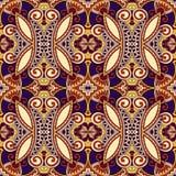 Teste padrão sem emenda floral do vintage da geometria Fotos de Stock Royalty Free