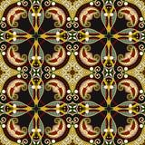 Teste padrão sem emenda floral do vintage da geometria Imagem de Stock