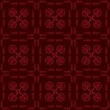 Teste padrão sem emenda floral dos corações Fotografia de Stock Royalty Free