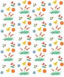 Teste padrão sem emenda floral e da baga O estilo das crianças da aquarela ilustração do vetor