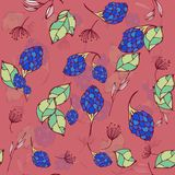 Teste padrão sem emenda floral Flores abstratas tiradas mão da garatuja com decoração Projeto artístico colorido Pode ser usado p ilustração stock