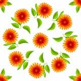 Teste padrão sem emenda floral Flores da aquarela do vetor Foto de Stock Royalty Free
