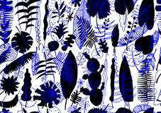 Teste padrão sem emenda floral Fundo brilhante da natureza do vetor ilustração stock