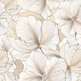 Teste padrão sem emenda floral Fundo da flor Texto do jardim do Flourish foto de stock royalty free