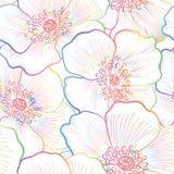 Teste padrão sem emenda floral Fundo da flor Textura do Flourish Fotos de Stock Royalty Free