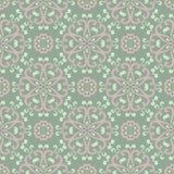 Teste padrão sem emenda floral Fundo do verde azeitona com pálido - elementos cor-de-rosa da flor ilustração stock