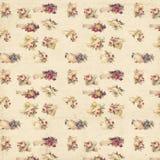 Teste padrão sem emenda floral gasto do fundo das rosas e das mãos do vintage ilustração royalty free