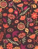 Teste padrão sem emenda floral lunático Imagens de Stock Royalty Free