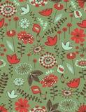 Teste padrão sem emenda floral lunático Fotografia de Stock Royalty Free