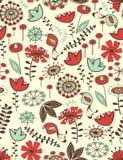Teste padrão sem emenda floral lunático Fotos de Stock Royalty Free