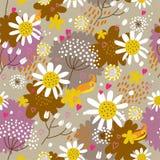 Teste padrão sem emenda floral no vetor Imagens de Stock Royalty Free