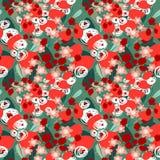 Teste padrão sem emenda floral O fundo com sumário bonito floresce a ilustração do vetor