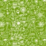 Textura sem emenda com flores Imagem de Stock Royalty Free