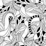 Teste padrão sem emenda floral preto e branco Imagem de Stock