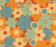 Teste padrão sem emenda floral retro Foto de Stock
