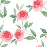 Teste padrão sem emenda floral tirado mão 2 da aquarela Fotos de Stock